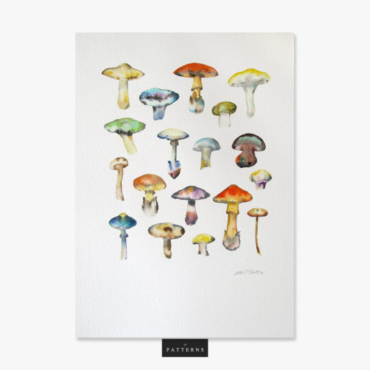 17 Patterns_Paris__Mushroom Artwork