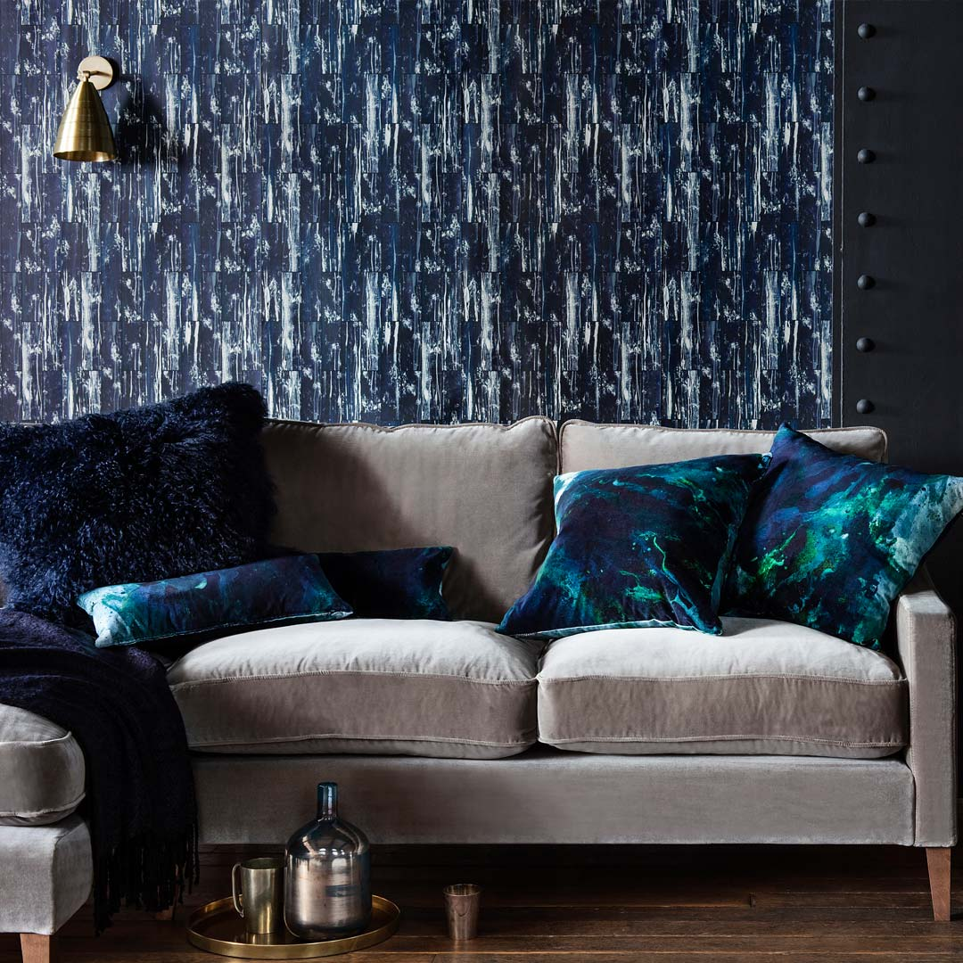 Acro- Navy Wallpaper By 17 Patterns For Warehouse Home