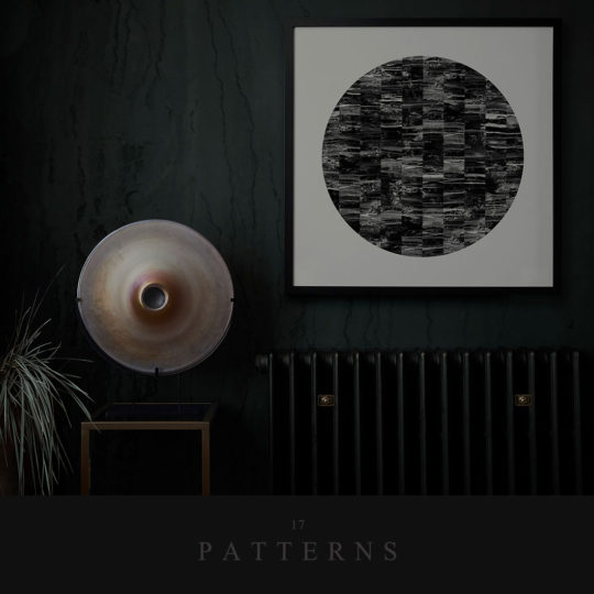 Acro- II Black Circle Art Print - 17 Patterns