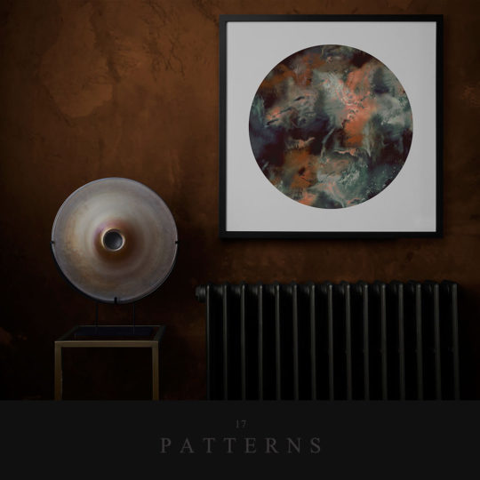 cloudbusting-rust-circle-art-print